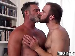 Bearded Mormon tracys mothers guys engage in hardcore ass fucking