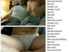 ChAt couple suck bald nakil ho sax and touch pussy in webcam