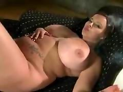 Huge boob BBW Terri Jane smoking and stripping