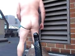 JoeyDs bubble butt Outdoor pale sexy jizz my boss man