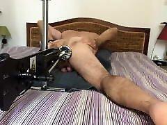 fuck machine session cockring piercing dildo black