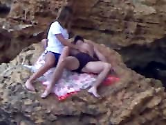 Beach Voyeur - Young couple playing pt1