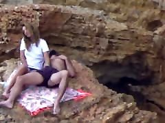 Beach Voyeur - Young couple playing pt2