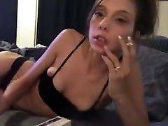 Elizabeth Douglas Eve 120s cigarette on webcam