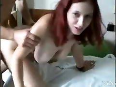 Redhead milf fuck pussy suck dik big boobs
