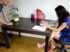 grab schoolgirls love office foot worship - CzechSoles.com teaser