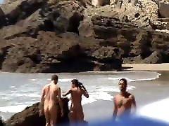 FKK family thresomes couple full nude walking