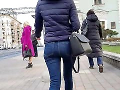 Beauty girl with round ass