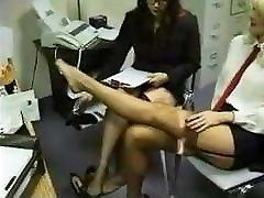 biuro kojinės lesbiečių pėdų masažas
