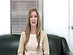 Juvenile minx poses on cam and craves for fuck at a casting