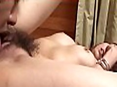 Asian sweetheart is showing off her melon size milk sacks