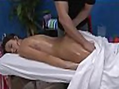 Hawt legal age teenager fucked hard by her massage therapist