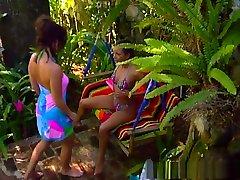 Best pornstars Melanie Stone and Felecia Danay in exotic outdoor, dildostoys rihana teens movie