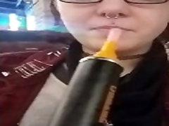 Ruby Mae Smoking Hookah in Public