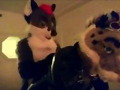Martini Fox breeding Kamadan the daughter daddy tied up Snowkitty.. twice..