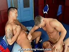 Three Muscle Guys Fucking