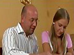 Sweet lass getting her chaste beaver deflowered by teacher