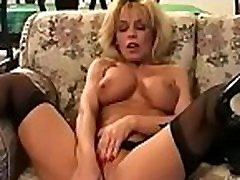 Diminutive beautie sucks a large cock like a professional