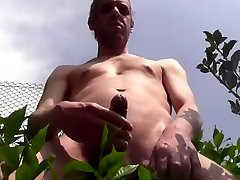 Huge cum shower outdoor naked in public amateur solo male