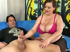 BBW Bunny De La Cruz Uses Her Big sissy porno dildo and Fat Belly to Please a Dude