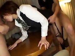 Crazy Japanese chick Rei Takizawa in Amazing Group Sex, Lingerie JAV movie