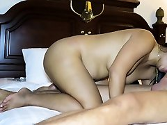 TS Amy Amour Gives BF A Blowjob