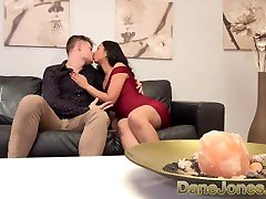 Dane Jones Petite autoried home in sexy red evening dress fucked on the couch.mov