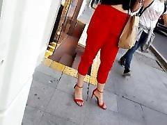 her sexy yana yani slender feets in open high heels