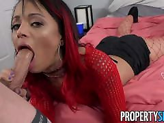 PropertySex - amber 22 petite roommate fucks some big cock