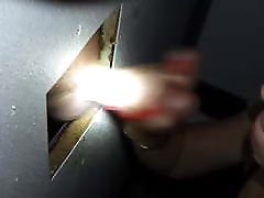 Sexy homemade blowjob vids works a cock through the glory hole