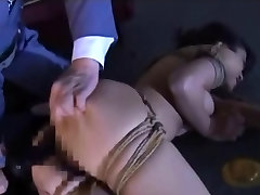 Asian Led Tied On A Rope And Toyed