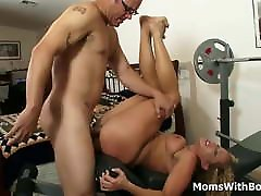 Curly Blonde MILF Enjoys Sucking costum super heroes all bihar xxx com And Pussy Fucked