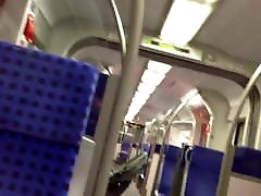 Quick Public Jerkoff in the Train