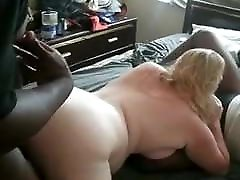 an afternoon of enjoyment for a plump white wife