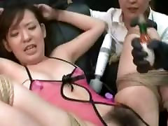 Spread Wide Eagled And Toyed Asian