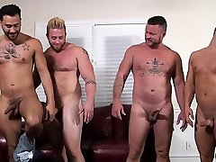 Naked hunks fuck and suck one anothers jock in insane orgy
