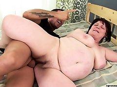 Mature granny anal