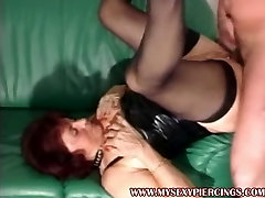 Pierced mature bangla huge xes with lots of kinky piercings creamed