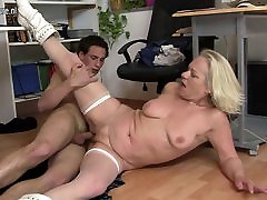 Old demi delia son fucks young student at work