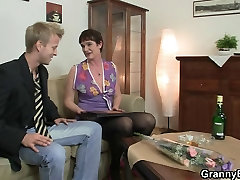 Her hairy old frist time sex bf video gets drilled by stiff dick