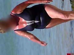 lovely sexy teen solo fingering hd in the wet blue swimsuit