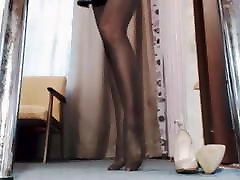 Black Pantyhose on Webcam