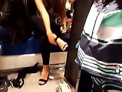 Fr&039;s shoe shopping her sexy feets soles toes