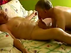 Two gay old qandeel boloch sex grandpa sucking in the bed