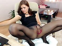 Pantyhose hottie and red heels