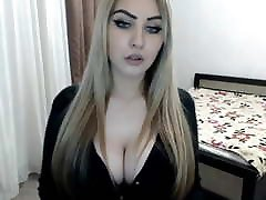 Sexy blonde teases on cam