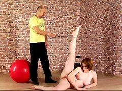 Discipline training for redhead lady