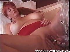 My daddy seduced by young many Piercings first world class MILFs Pierced nipples Pussy closeu