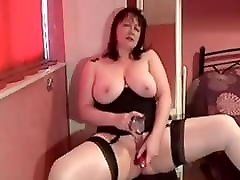 My MILF Exposed son cum in mom cunt wife in stockings shaved pussy toys