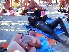 Nude Beach - More Antics at Cap d&039;Agde - Group Sex